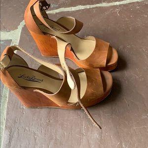 Lucky brand platform wedge sandals